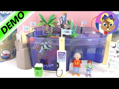 Aquarium maritime PLAYMOBIL avec requin marteau, pieuvre et bébés! Playmobil Family Fun