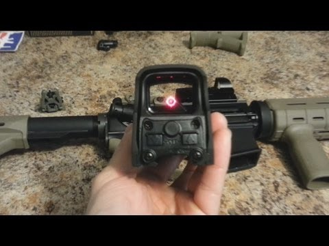 EOTech Holographic Sight Unboxing and Overview (Holo Sight vs Red Dot Sight)