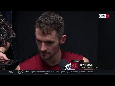 Kevin Love on reconnecting with LeBron, Cavs' effort vs. Lakers