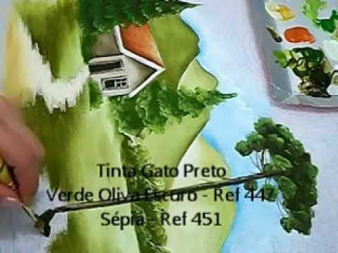 COMO PINTAR PAISAGEM - HOW TO PAINT  LANDSCAPE