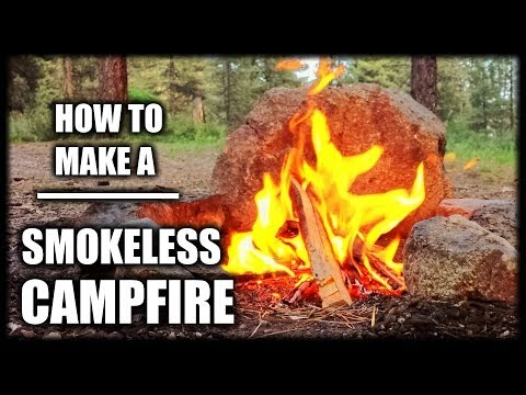 How To Make A Smokeless Campfire - \