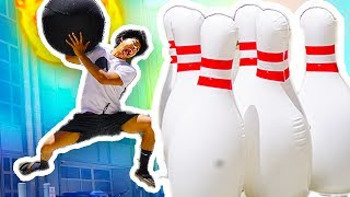 GIANT BOWLING CHALLENGE!!!!!