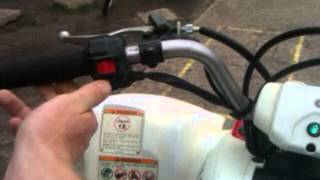 8. 2008 Yamaha Raptor 80 walk around and start up