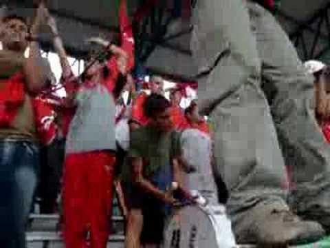 Salida Union Lara FC vs Garimpeiros (Mineros) - La Mafia Roja - Unión Lara