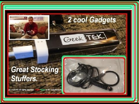 "I found 2 really cool Gadgets that would make great ""Stocking Stuffers""."