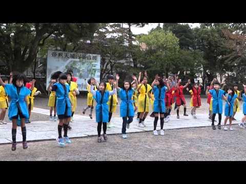 葛飾小学校さん「北の舞」/帝釈天境内/第7回葛飾舞祭