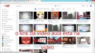 Atenção este video teve a sua transmissão ao vivo para nossa pagina do facebook segue o link da video-aula http://original.livestream.com/ysraelantonyo/video?clipId=pla_fba4afd9-b629-46d1-9f77-39278e4fdf57