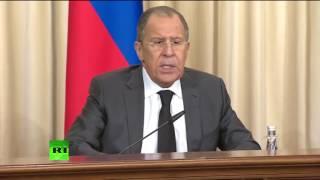 Пресс-конференция Сергея Лаврова и глав МИД Ирана и Турции