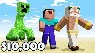 Minecraft NOOB vs. PRO vs. HACKER vs GOD: LAST TO SURVIVE MUTANT MOB WAVE WIN $10000 - Challenge