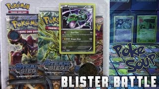 Pokémon Cards - Steam Siege Rayquaza 3 Pack Promo Blister Opening Battle Vs PokeSoup! by The Pokémon Evolutionaries