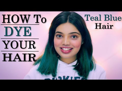 Hair color - My New Teal Blue Hair Colour