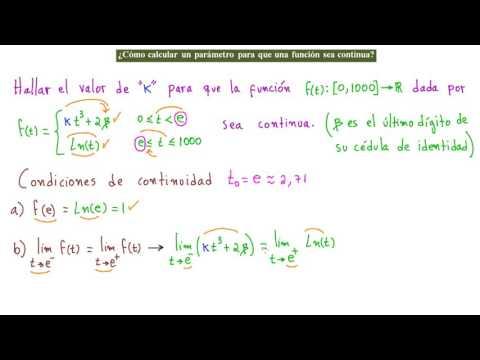 ►¿Cómo Calcular un Parámetro para que una Función sea Continua?