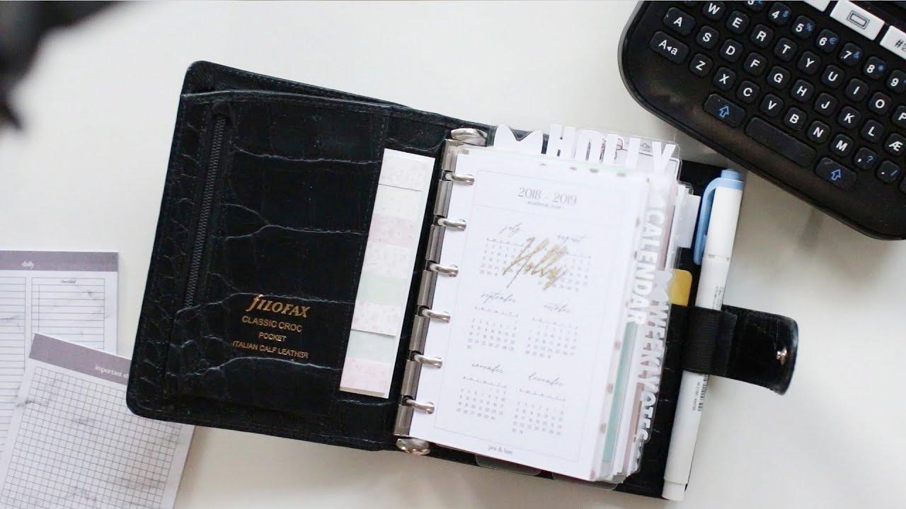 Filofax Classic Croc Pocket Planner Setup