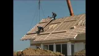 Строительство каркасно-панельного дома.