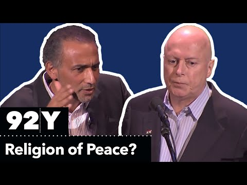 Religion - Christopher Hitchens and Tariq Ramadan Debate: Is Islam a Religion of Peace? Moderated by Laurie Goodsteing, October 5, 2010 at 92Y. Read more at Vanity Fair...