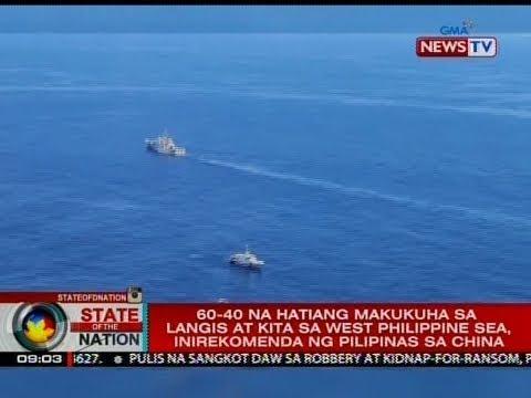 60-40 na hatiang makukuha sa langis at kita sa West Phl Sea, inirekomenda ng Pilipinas sa China