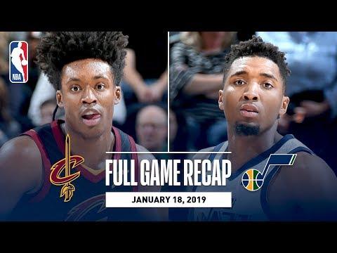 Video: Full Game Recap: Cavaliers vs Jazz | Mitchell & Gobert Lead Utah