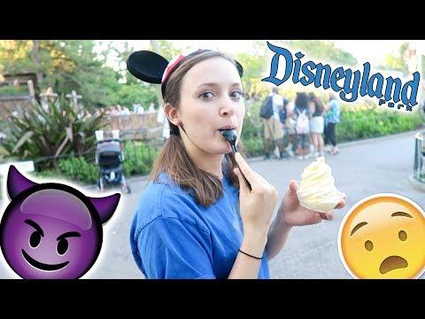 I stole Adam's Dole Whip at Disneyland!!!!