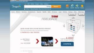 Display   Exemplo de Rich Media   MSN Home   TAM Fidelidade   Rich Media