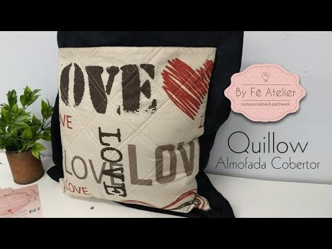 DIY::: Quillow (Almofada Cobertor) - By Fê Atelier (видео)
