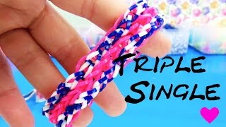 Rainbow Loom Triple Single Deutsch Armband Mit Gabel Häkelnadel How To Make A Triple Single Bracelet
