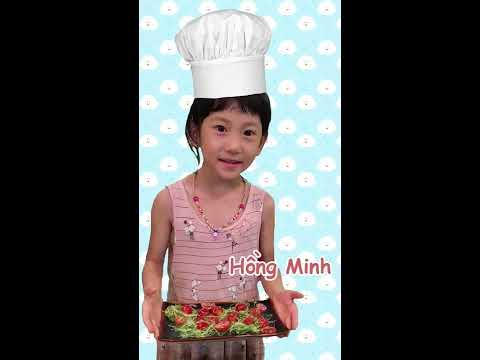 Khi bé vào bếp   SGA Nguyễn Văn Hưởng   Đinh Phạm Hồng Minh   Salát mầm cải