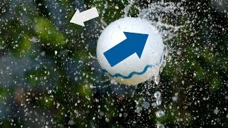 """On a stream of water you can levitate light balls of all sizes and even disks and cylinders. The mechanism is not the Bernoulli effect...Want to make this at home? https://youtu.be/BppcHF2EdAYMy friend Blake from InnoVinci emailed me with a cool idea for a video and footage of levitating balls in water streams. Initially it was tough to explain the physics of what was going on. The standard Bernoulli effect relies on the object being completely immersed in the upward-flowing fluid. But in this case the water seems to form a single stream around the object and it's deflected away and down from the stream. By Newton's third law, the force on the water by the ball is equal and opposite to the force of the water back on the ball, pushing it up into the stream. There is a stable equilibrium position because if the ball moves into the stream, it """"cuts off"""" the water going over the ball so it drifts out. If it drifts out too far, then lots of water passes over the ball, pushing it back into the stream.Special thanks to Patreon Supporters:Tony Fadell, Donal Botkin, Jeff Straathof, Zach Mueller, Ron Neal, Nathan HansenSupport Veritasium on Patreon: http://ve42.co/patreonFilmed by Raquel NunoSlow motion by Hollywood Special Ops http://hollywoodspecialops.comMusic from Epidemic Sound http://epidemicsound.com """"Colored Spirals 3"""" """"Magnified X 3"""" """"In Orbit 2"""" """"ExperiMental 1"""""""