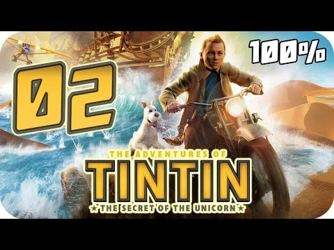 The Adventures of Tintin: The Game Walkthrough Part 2 (PS3, X360, Wii) 100% Movie Chapter 5 to 10
