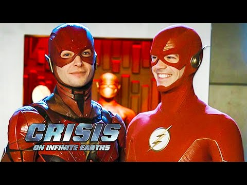 Crisis On Infinite Earths Ezra Miller Cameo Scene and Justice League Flash Movie Breakdown