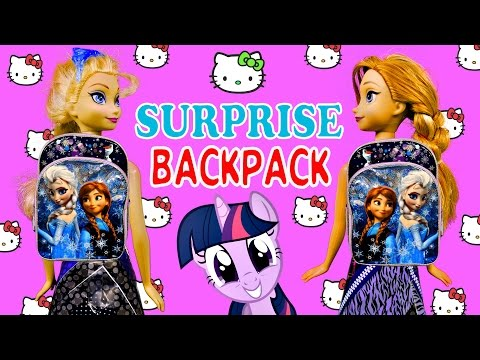 SURPRISE BACKPACK Frozen My Little Pony Hello Kitty Disney Princess Back To School Supplies