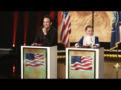 Lin-Manuel Miranda and Macey Hensley Face Off in Historical Trivia (видео)