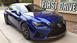 I drive the 2015 Lexus RC F for the first time and comment on how it drives and give my very first impressions. I give it a few good pulls and wring out the 5.0L V8 with 467hp and 389 torque. The car does 0-60 in 4.4 seconds with its rear wheel drive configuration. 14.9-inch slotted front brake rotors clamped by massive six-piston Brembo calipers. 8 Speed Torque converter automatic transmission with paddle shifters.