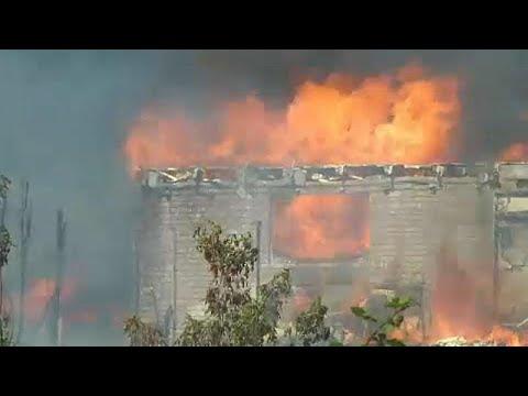 Πυρκαγιά δίπλα στις γραμμές του τρένου – 40 τραυματίες, καμμένα σπίτια…