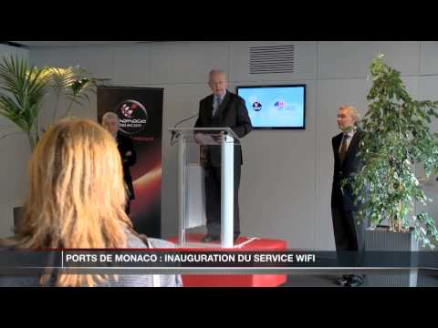 Inauguration d'un accs Wifi dans les Ports de Monaco