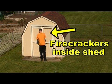 Funny Firecracker Scare Prank