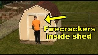 Funny Pranks : Firecracker Scare Prank - VidInfo