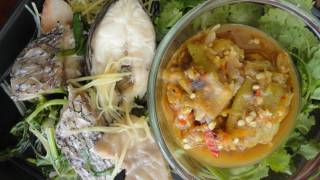 Thai Isaan Food Recipe: Steamed Fish And The Chili Paste With Plara!