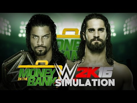 WWE 2K16 Money In The Bank Simulation: WWE Title Match: Roman Reign (c) v Seth Rollins