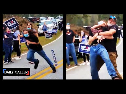 Angry Trump And Biden Supporters Clash As Election Nears