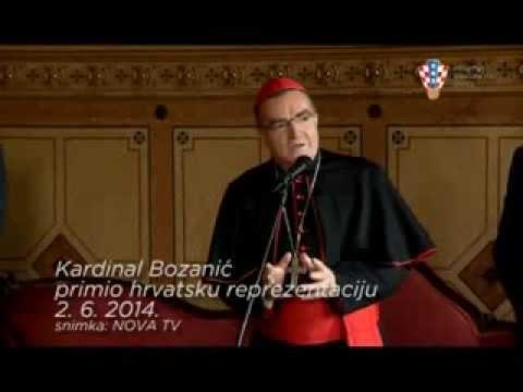 Govor kardinala Bozanića hrvatskoj reprezentaciji