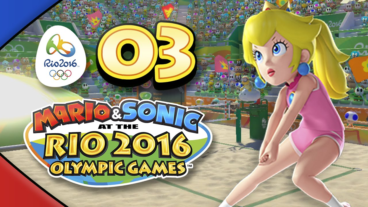Mario and Sonic at the Rio 2016 Olympic Games for Wii U: Part 03 – Beach Volleyball (4-Player)