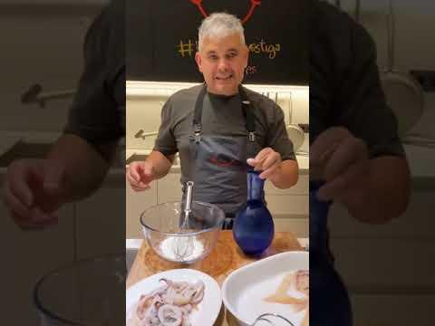 """Calamars de Potera """"vestits"""" a la romana, amb tempura i a l'andalusa!!"""