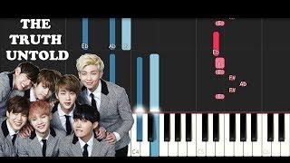 BTS ft. Steve Aoki - The Truth Untold (Piano Tutorial)