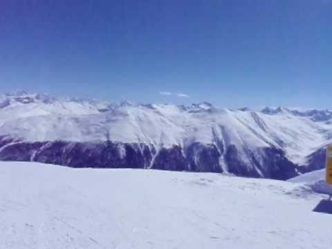 Panorama in Livigno, Italy - Looking at the Awesome Terrain! [March 2009]