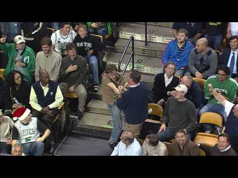 "FanLip Synching to Bon Jovi's ""Living on a Prayer"" at a Celtics Game is EPIC"