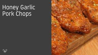 Recipe: http://getinmybelly.com/honey-garlic-pork-chops/