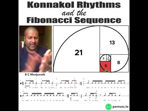 Composición musical india que sigue la sucesión de Fibonacci
