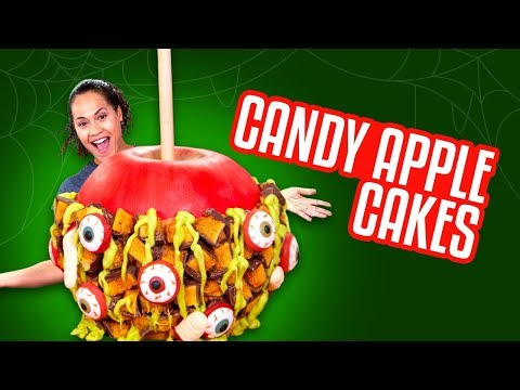 GIANT Candy Apple CAKE!!  How To Cake It