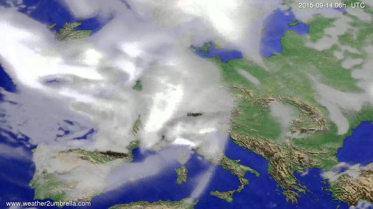 Cloud forecast Europe 2015-09-10