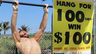 Video HANG CHALLENGE! 100 SECONDS, 100 DOLLARS! (NINJA WARRIOR ATTEMPT) MP3, 3GP, MP4, WEBM, AVI, FLV Februari 2019
